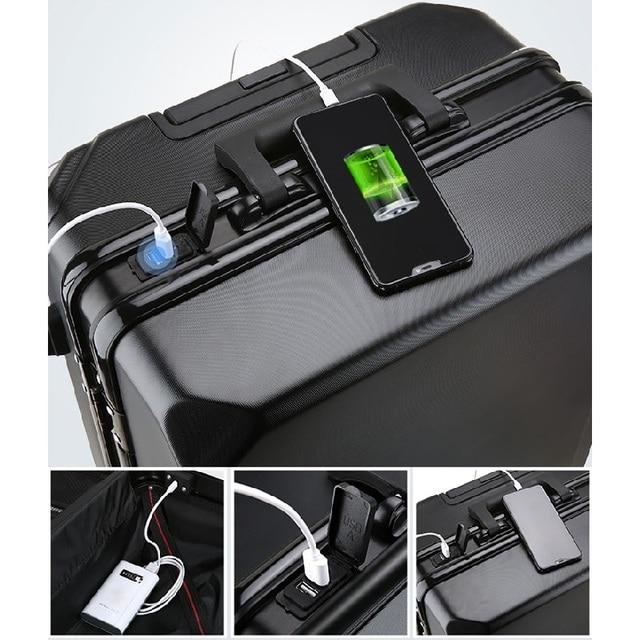 Suitcase White High-Quality Aluminum Alloy Frame