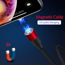 Magnetic Cable Micro USB For iPhone Samsung Android Fast Charging Magnet Charger USB Type C Cable Mobile Phone Cord Wire magnetic usb cable for samsung huawei type c usb charging usb c magnet micro usb cable android mobile phone cord wire for iphone