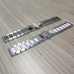 Image 5 - 22mm 20mm Stainless Steel with Ceramic Strap for Samsung Gear S3 Band for Galaxy Watch 3 Bracelet 41mm 45mm 46mm/42mm/Active 2