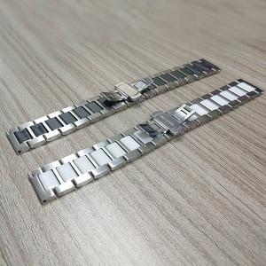 Image 5 - Браслет из нержавеющей стали с керамическим ремешком для Samsung Gear S3 Band, браслет для Galaxy Watch 3, 41 мм 45 мм 46 мм/42 мм/Active 2, 22 мм 20 мм