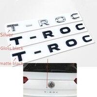 For VW T ROC TROC Rear Trunk Emblem Tailgate Badges Logo Letters Sticker