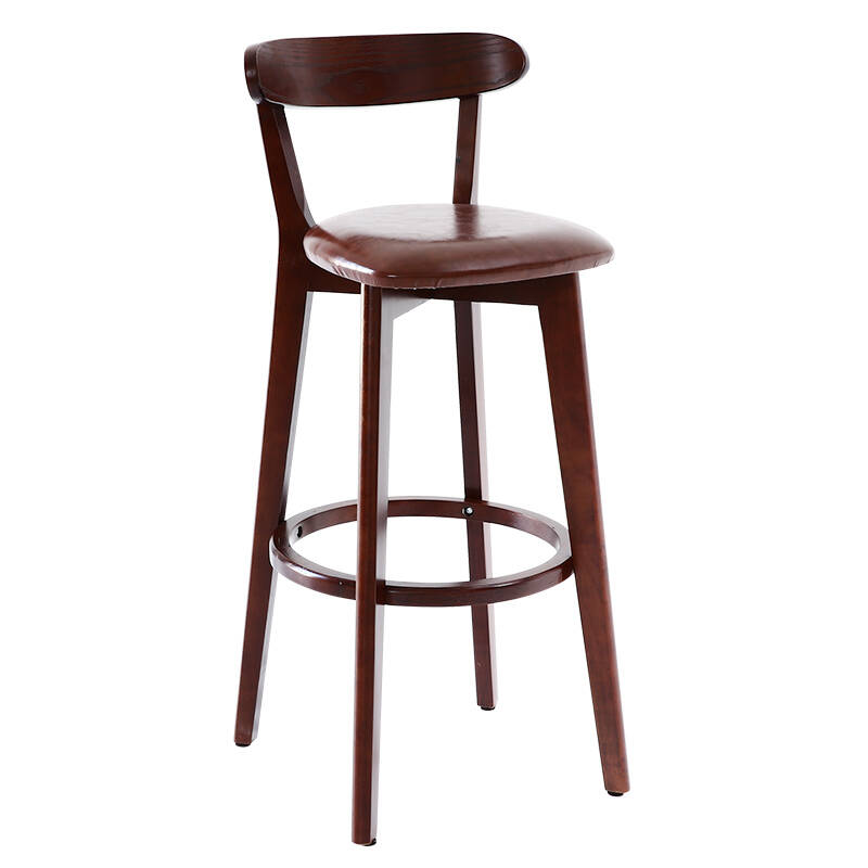 Bar Hocker Nordic Modern Minimalist House Leisure Solid Wood  High Bar  Krest Chair