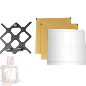 3D Printer Accessories Steel Plate+2 Pieces of Pasted PEI+Y-Axle Support Plate Kit Prusa I3 MK3 Heated Bed MK52 Steel Plate