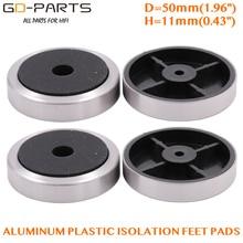 GD-PARTS 50*11 мм алюминиевый пластиковый Усилитель Ноги динамик Компьютер CD DVD шасси изоляционная подставка База колодки упаковка из 4 шт