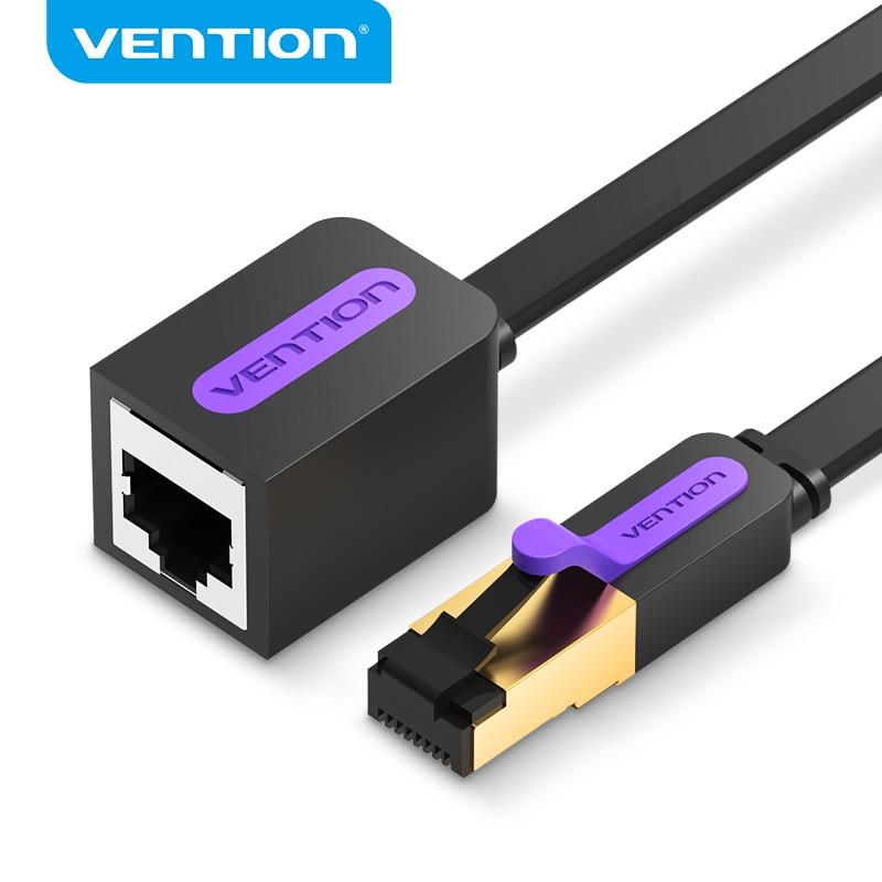 Удлинительный кабель Vention Cat7 Ethernet, RJ45 Cat7/Cat6 штекер-гнездо, Rj45 Ethernet удлинитель адаптер для ПК, ноутбука, Ethernet-кабель