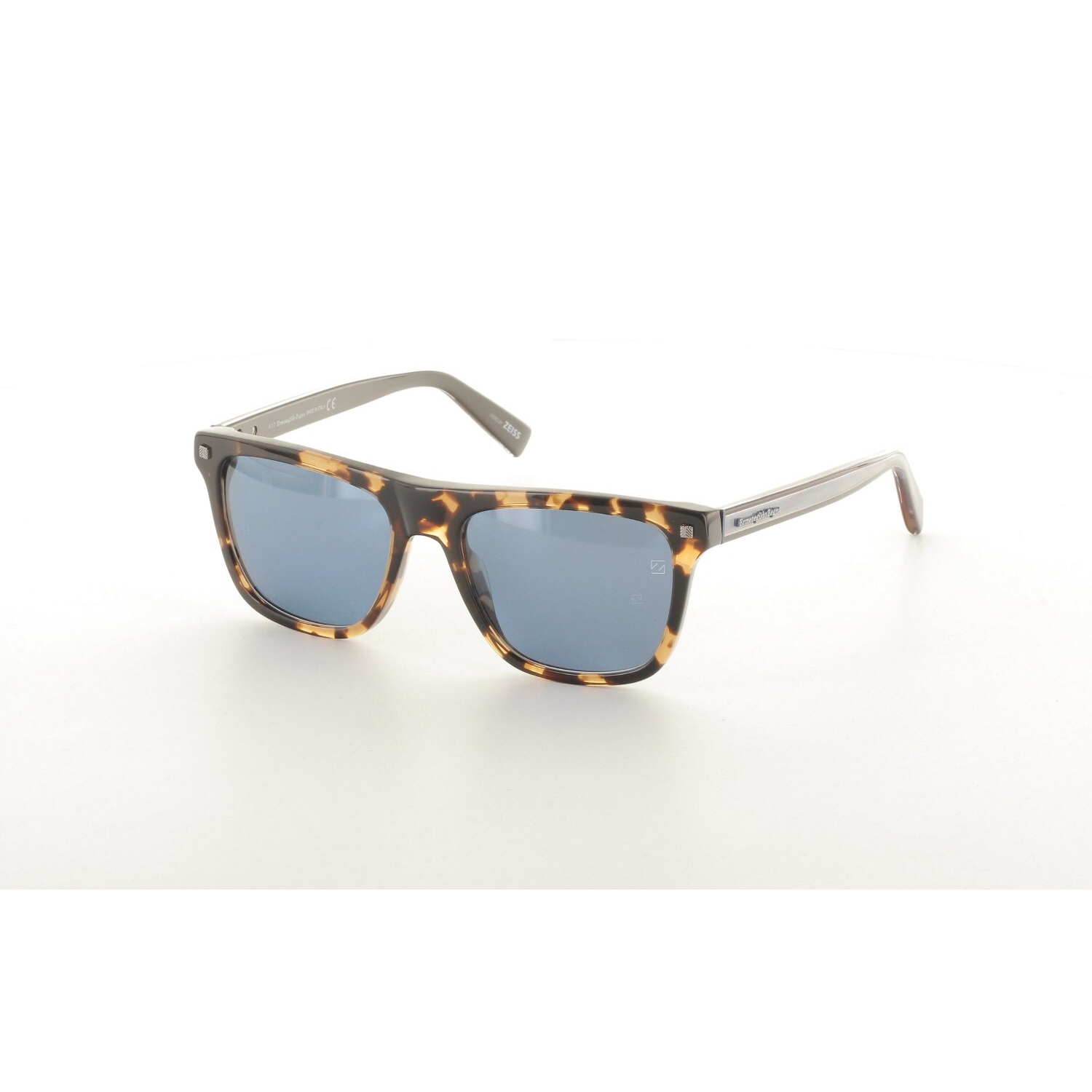 Men's sunglasses ez 0094 55x bone Brown organic square square 54-18-145 ermenegildo zegna