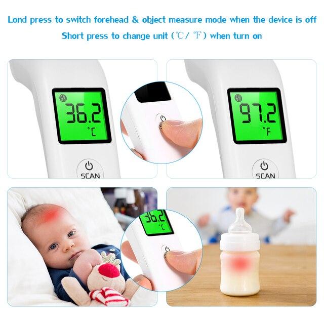 Termometer Inframerah Termometer Dahi Non Kontak Termometer LCD Display Tinggi Precision Handheld Suhu Meter 2020 5