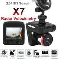 X7 2 in 1 Car DVR Camera Radar Detector HD 1080p LED Sucker Type USB Cigarette Lighter 30 Frames 140 Lens Video Recorder Dashcam