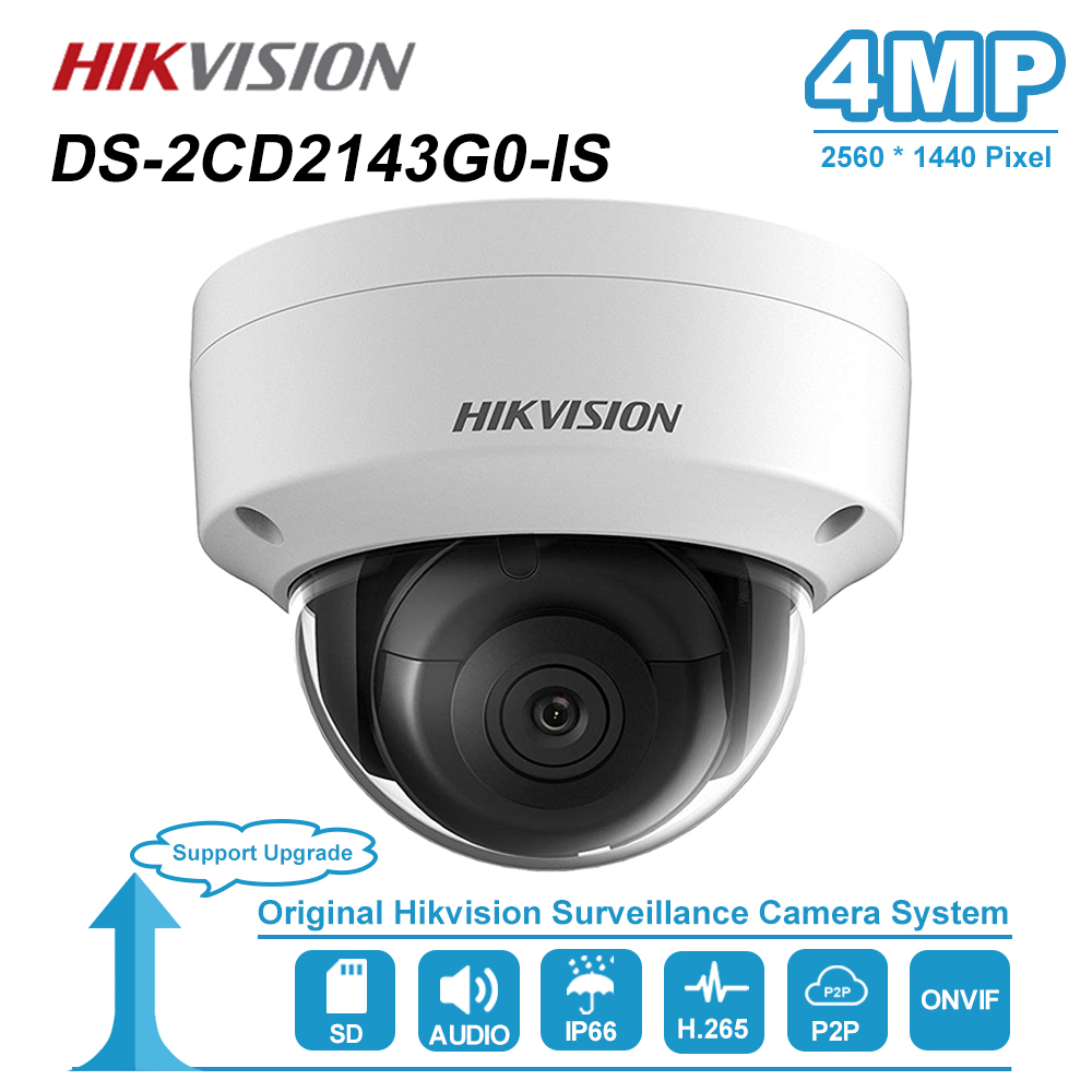 Hikvision 4MP Dome IP Camera With Audio PoE SD Card Slot Outdoor IP67 Night Vision CCTV Security Surveillance DS-2CD2143G0-I(S)