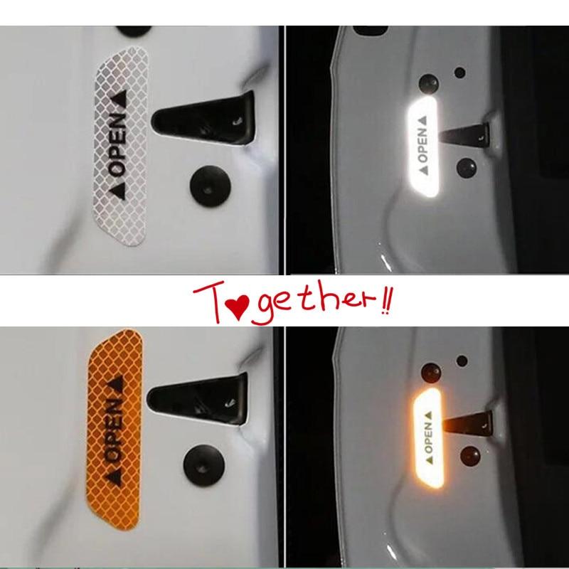 new hot car Warning Mark Night Safety Door Stickers FOR volkswagen passat b6 nissan teana a6 c7 ibiza prius 30 w163 azera