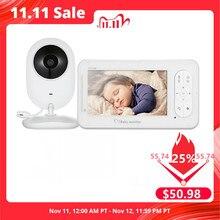 ทารกไร้สายขนาด 4.3 นิ้ว 2 Way TalkสีสูงความละเอียดBaby Nanny Securityกล้องVOXโหมดการตรวจสอบอุณหภูมิ