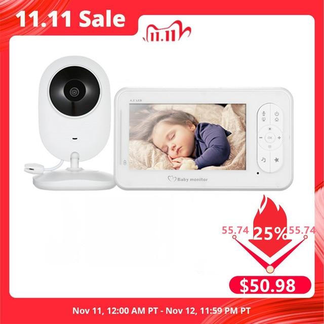 4.3 אינץ אלחוטי וידאו בייבי מוניטור 2 דרך שיחת גבוהה צבע רזולוציה תינוק ביטחון מטפלת מצלמה VOX מצב טמפרטורת ניטור