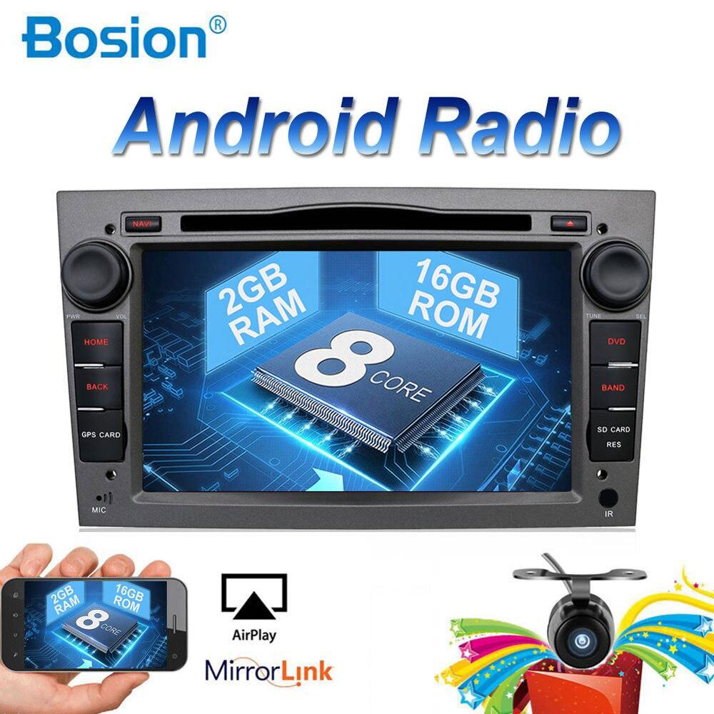 2 din Núcleo octa Android 8.1 gravador de Carro GPS DVD Player Para Opel Astra H Corsa Vectra Zafira B C G apoio OBD2