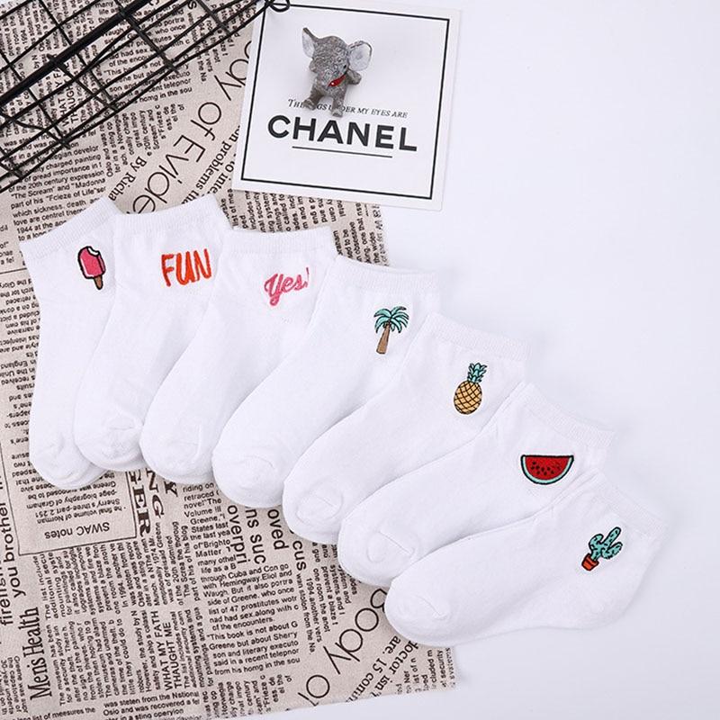 Children's cotton socks Cute Cartoon fruit embroidery socks comfortable cartoon socks kids socks Children's socks baby socks 3