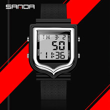 SANDA Men Military Digital Watches Chronograph Multifunction Silicone Sport Watch LED Waterproof Wrist Watches Relogio Masculino honhx new fashion colorful silicone waterproof led light digital sport wrist watch watches kid women girl men boy hot sale