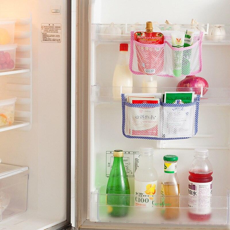 Permalink to 1pc Kitchen Refrigerator Hanging Storage Bag Food Organizer Kitchen Cabinet Storage Pouch with 2 Hooks kitchen organizer storage