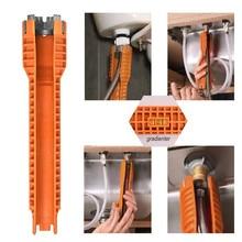 Многофункциональный Легкий домашний кухонный смеситель для ванной комнаты и установщик раковины гаечный ключ противоскользящая ручка двойной головкой гаечный ключ инструмент