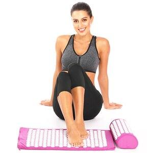 Image 5 - Tapis dacupression chaud pour Yoga, matelas avec picots et oreiller de Massage, soulage les douleurs de dos, Acupuncture, 26*17 pouces