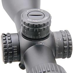 rifle de ar escopo primeiro plano focal