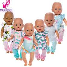 цена 18 inch girl Doll clothes pants set for new born Baby new born Doll pants clothes soft touch 18