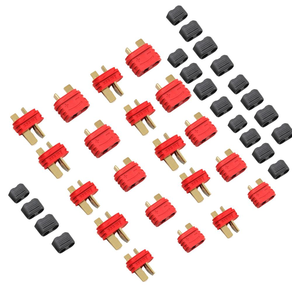 2/5/10 Pairs AMASS Upgrated Sheathed T Plug Connectors Dean Style With Protection Cover For RC Battery ESC Motor Controller