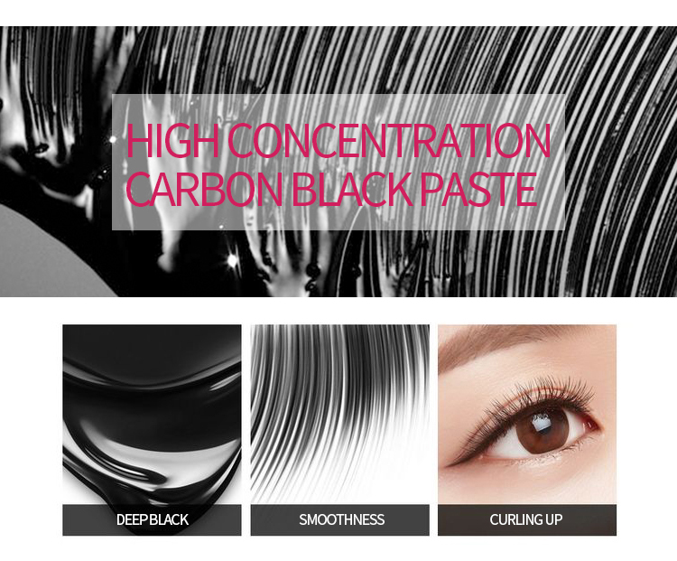 4D Silk Fiber Lash Mascara Long Curling Mascara Makeup Eyelash Black Waterproof Fiber Mascara Eye Lashes Makeup TSLM2 4