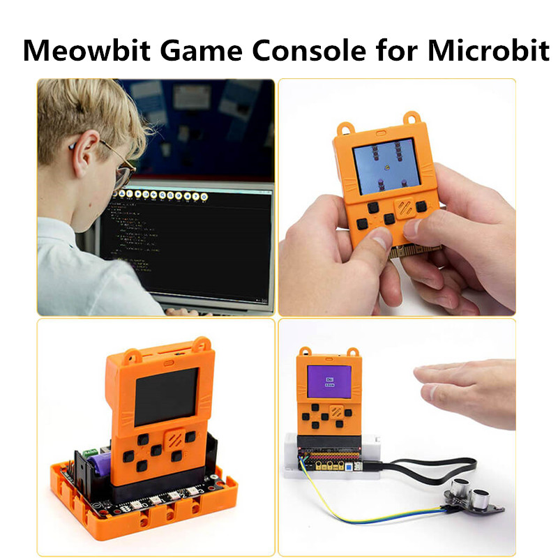 Kittenbot Meowbit Codable Console Programmable Game Consoles For Microsoft Makecode Board With 1.8inch TFT Screen Programming