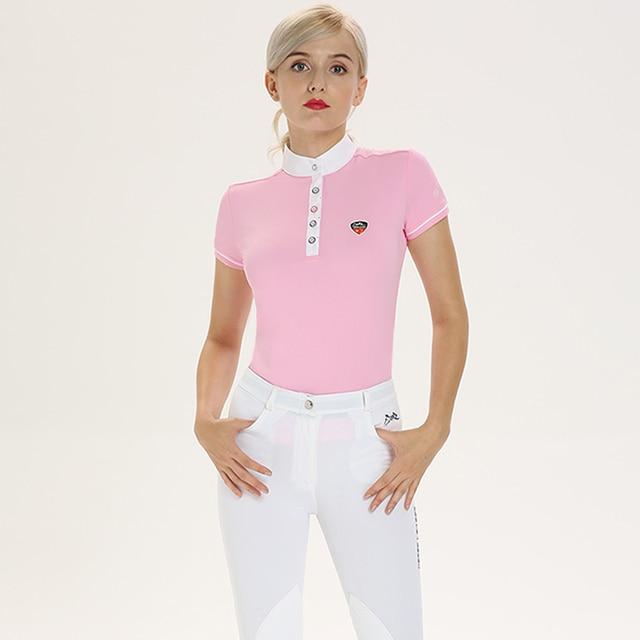 Women's Short Sleeved Equestrian Riding Shirt   5