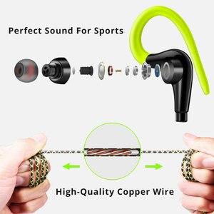 Image 3 - 3.5mm Ear Hook Earphones Sport Running Headset Wired Earphone Fitness MP3 Earbuds for Sony Honor for Redmi Note 8 fone de ouvido