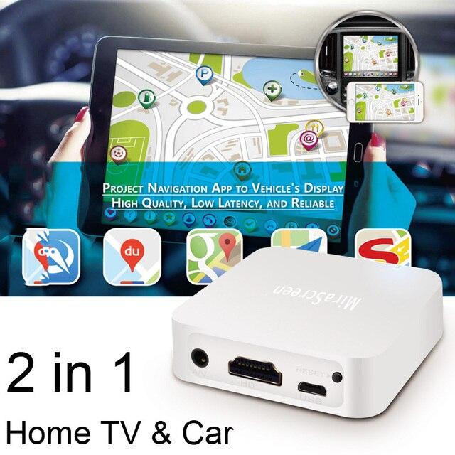 AV HDMI WiFi Dongle תצוגת מסך שיקוף תיבת יצוק אודיו וידאו GPS ניווט עבור iPhone 11 פרו 8 iOS אנדרואיד טלפון לטלוויזיה רכב