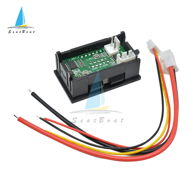 0.56'' 0-100V 10A 50A 100A LED Digital Voltmeter Ammeter Car Motocycle Voltage Current Meter Volt Detector Tester Monitor Panel 6