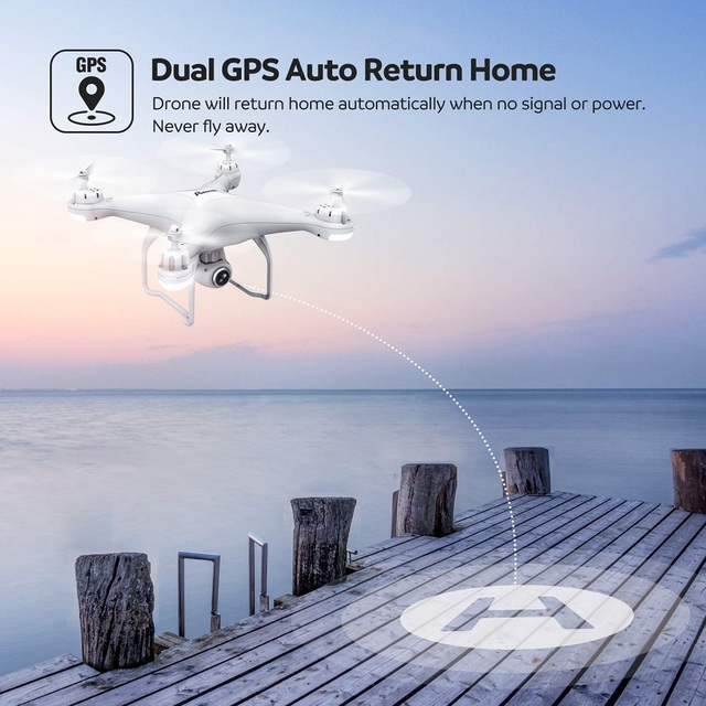 Potensic Professional T25 GPS Drone Wifi FPV RC Helicopters with 1080P HD Camera Auto Return Home Altitude Hold RC Quadcopter 3