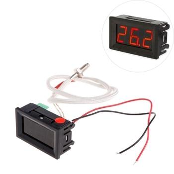 цена на DC 12V LCD Digital Thermometer Temperature Meter K-type M6 Thermocouple Temperature Sensor
