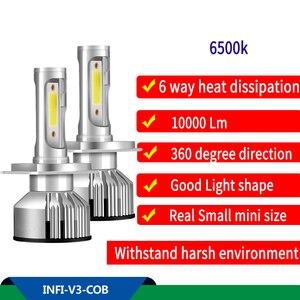 Infitary h7 светодиодный автомобильный светильник, автомобильная фара, светодиодный лампы светодиодные для фар светильник s светодиодный свети...