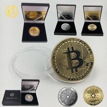 36 дизайнов Биткоин BTC /Ada/криптоэфириум эфир/Dash/DeogeCoin Памятная Коллекция невалютных монет с красивой подарочной коробкой
