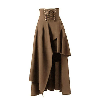 Jessica High Waist Skirts Asymmetrical Retro Style Sexy Pulling Rocks Long Skirt 2