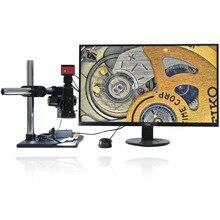 Sony Sensor IMX342 Full HD 4K 1080P, microscopio electrónico de medición de precisión de vídeo, lupa de enfoque completo, prueba de reparación de soldadura