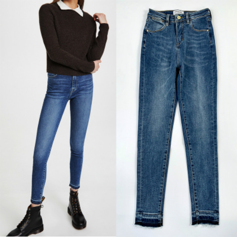 High-Stretch-Jeans Versatile Classic Winter Fashion Women Autumn for Slim-Show Thin Little-Feet