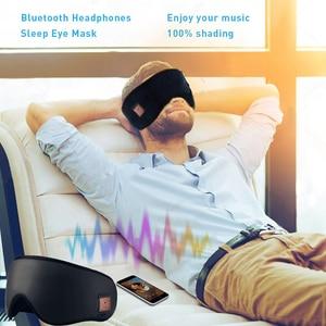 Image 5 - JINSERTA 3D sans fil Bluetooth casque doux sommeil masque pour les yeux stéréo musique casque avec micro Support mains libres pour Smartphone
