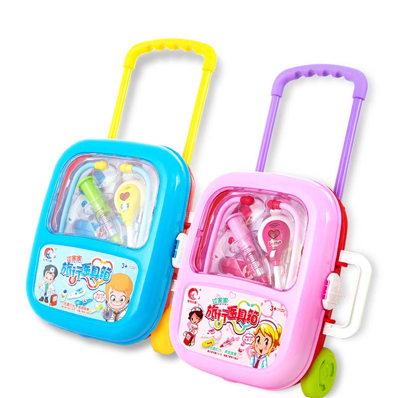 Children's Doctor Toy Set 3-6 Years Old Girls Home Drug Box Stethoscope Baby Injection Toy Hospital image