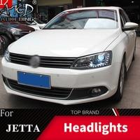 Head Lamp For Car VW 2011 2019 Jetta Gli MK6 Headlights Fog Lights Daytime Running Lights DRL H7 LED Bi Xenon Bulb Car Accessory