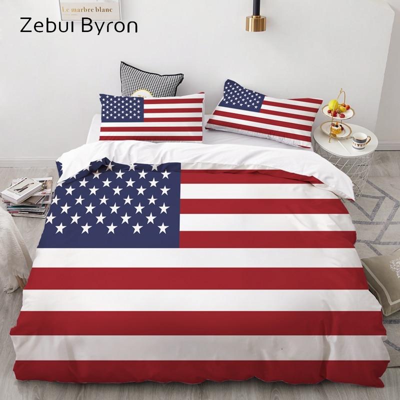 3D Bedding Set Custom,Duvet Cover Set Queen/King,Quilt/Blanket Cover Set,Bedclothes Flag United States USA,3pc Bed Set,drop Ship