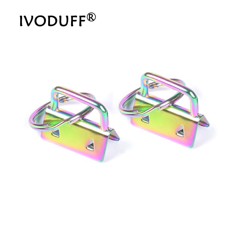 Key fob Hardware For Bag Strap, Metal Rainbow Color Key Fob Hardware 1 INCH