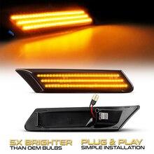 2 Pcs דינמי אמבר LED צד מרקר הפעל אות סדרתית נצנץ אורות עבור פורשה 997 911 Boxster 987 קיימן 987C canbus