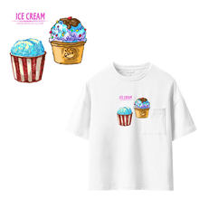 Ananas Ijs Kleding Stickers Ijzer Op Patches Diy Heat Transfers Patch Voor Kleding T-shirt Applicaties Decoratie(China)