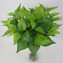 1 X Artificial Plant Fake Green Silk Leaves Wall Home Decoration Simulated Design Non-Toxic Tasteless