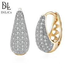 expensive large earrings white gold blue red 4 colors luxury jewelry great jewellery high quality big drop earring for women DiLiCa Classic Drop Earrings for Women Fashion Rhinestone Dangle Earrings Female White Gold Plated Earring Jewelry