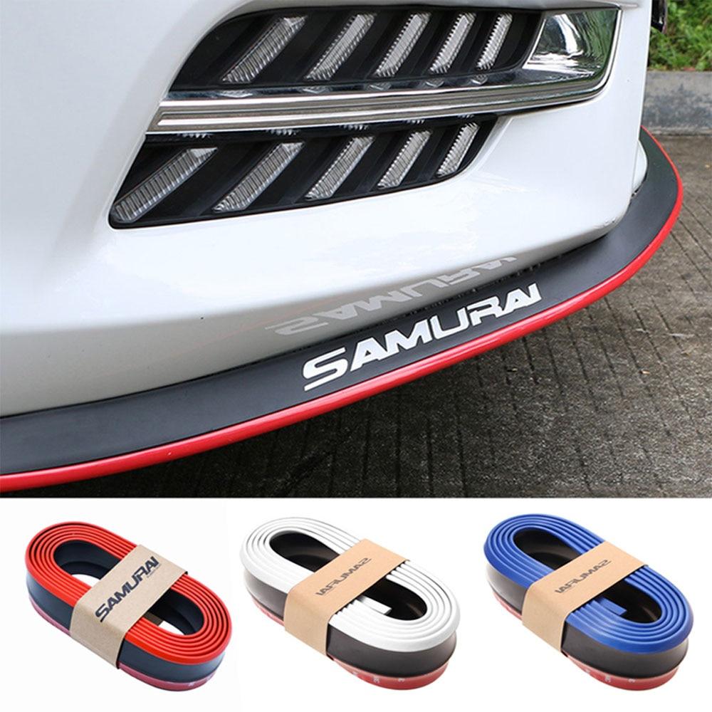 Splitter Spoiler Car-Protector Chin-Body-Kits Rubber Auto-Bumper-Exterior Carbon-Fiber