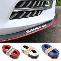 2.5M Car Bumper Lip Carbon Fiber Rubber Car Protector Front Lip Mouldings Splitter Chin Body Kits Spoiler Auto Bumper Exterior