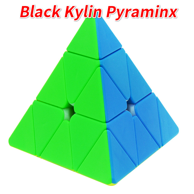 New Yuxin Black Kylin 3x3 Pyramind Cube Stickerless Pyraminxed Zhisheng Magic Cube  Toys For Children Boys